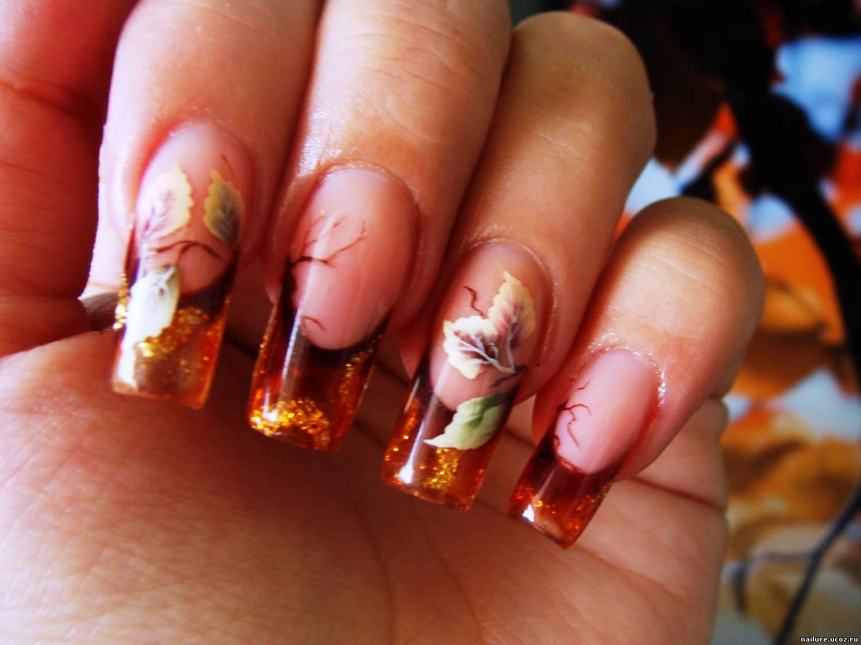 фото осень на ногтях 2015 фото