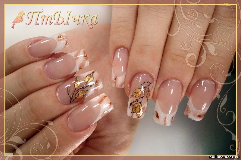 Рисунки на ногтях фото френч осень 111